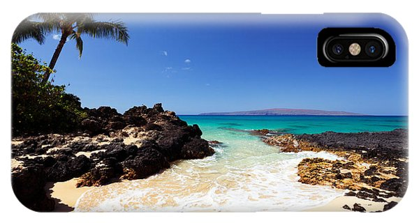 Blue Sky At Secret Beach Makena IPhone Case