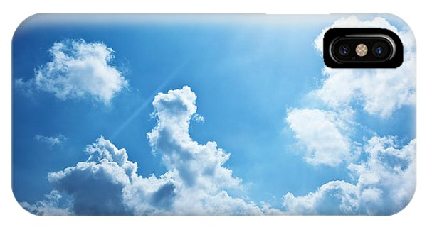 Blue Sky Background Phone Case by Anna Om