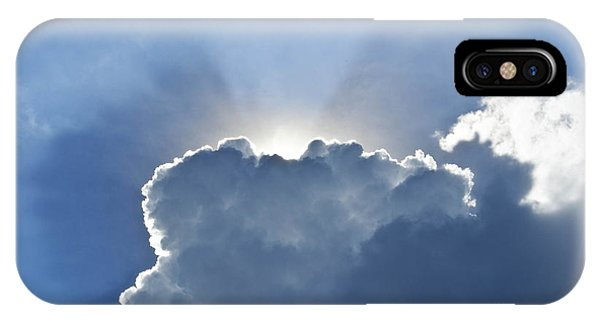 Blue Sky With Sun And Beautiful Clouds Phone Case by Jeng Suntorn niamwhan