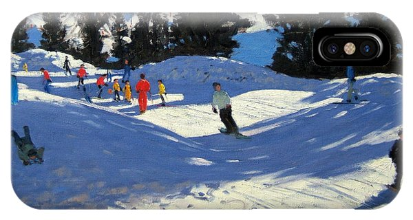 Accident iPhone Case - Blue Sledge by Andrew Macara