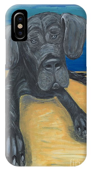 Blue The Great Dane Pup IPhone Case