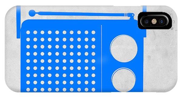Retro iPhone Case - Blue Transistor Radio by Naxart Studio