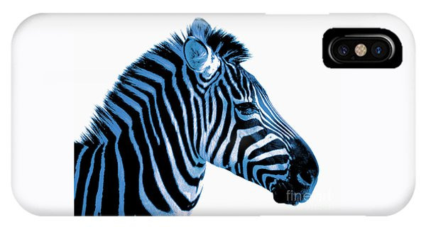 Blue Zebra Art IPhone Case