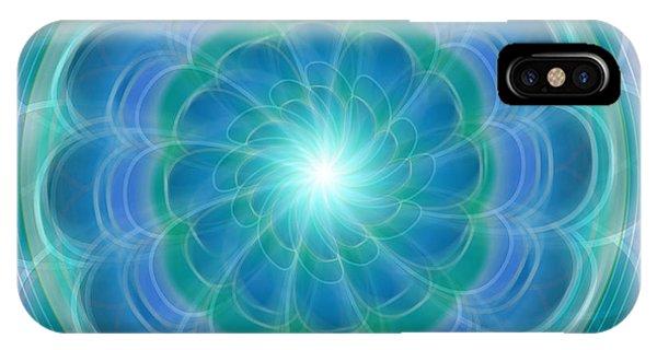 Bluefloraspin IPhone Case