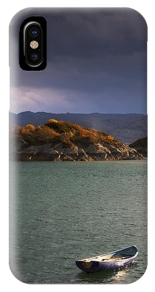 Boat On Loch Sunart, Scotland IPhone Case