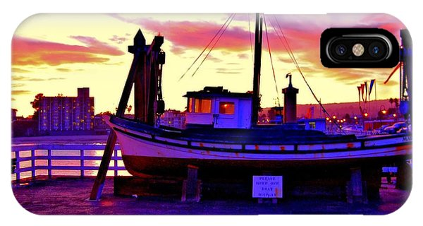 Boat On Santa Cruz Wharf IPhone Case