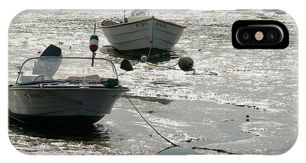Powerboat iPhone Case - boats at low tide in Cape Cod by Matt Suess