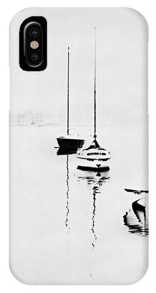 Boats On Foggy Lake Lucerne IPhone Case