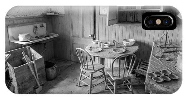 Bodie Ghost Town iPhone Case - Bodie Ghost Town Kitchen by Scott McGuire