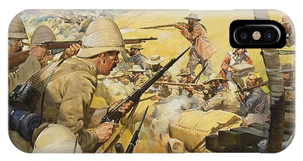 British Empire iPhone Case - Boer War Skirmish by James Edwin McConnell