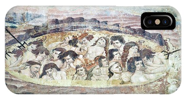 Boiling In Hell, 14th Century Fresco Phone Case by Sheila Terry