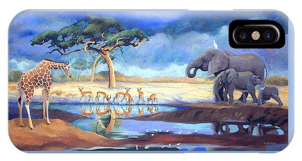 Botswana Watering Hole IPhone Case