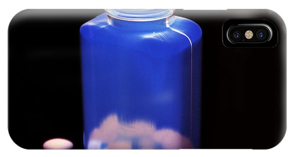 Bottle Of Pills, Negative Image Phone Case by Kevin Curtis