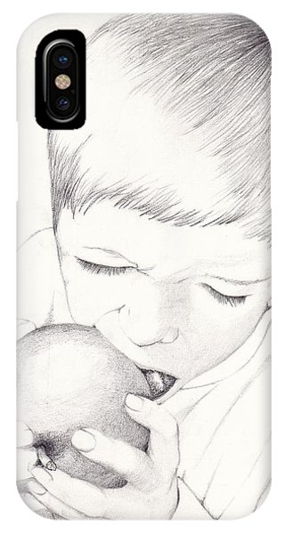 Boy With Apple IPhone Case