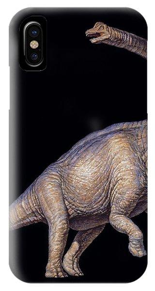 Brachiosaurus Dinosaur Phone Case by Joe Tucciarone