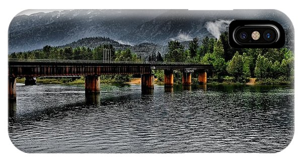 Bridge And Mountains IPhone Case