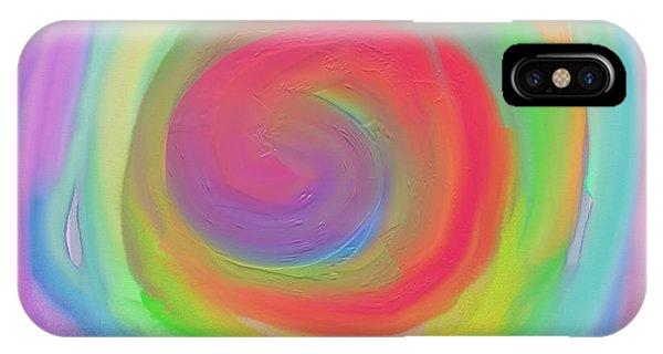 Bright Spiral IPhone Case