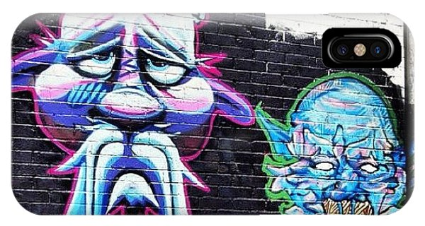 Cartoon iPhone Case - #bristolgraffiti #graffitiwall #graf by Nigel Brown