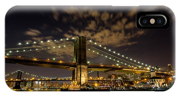 Brooklyn Bridge And Waterfront Phone Case by John Dryzga