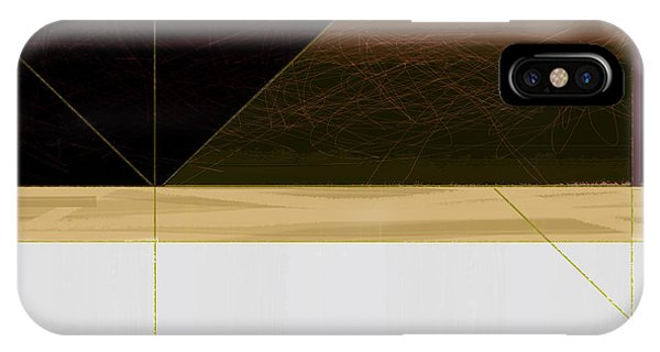 Contemporary iPhone Case - Brown Field by Naxart Studio