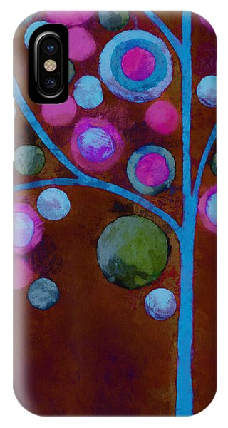 Bubble Tree - W02d - Left IPhone Case
