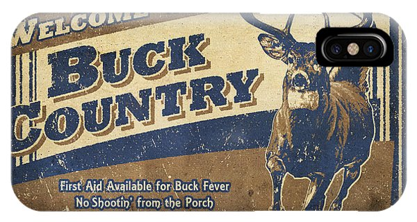 Shooting iPhone Case - Buck Country Sign by JQ Licensing