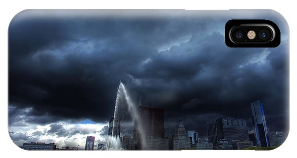 Buckingham Fountain Storm IPhone Case