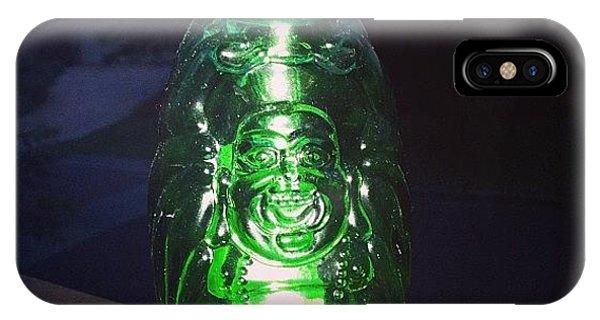 Decorative iPhone Case - Buddha Beer Bottle #buddha #bottle by Shikoba Photography