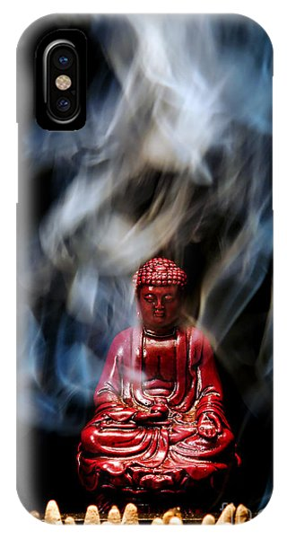 Shrouds iPhone Case - Buddha In Smoke by Olivier Le Queinec