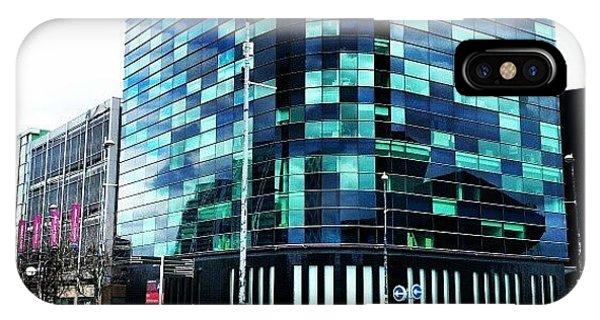 Artwork iPhone Case - #buildings #salfordquayes #salford by Abdelrahman Alawwad