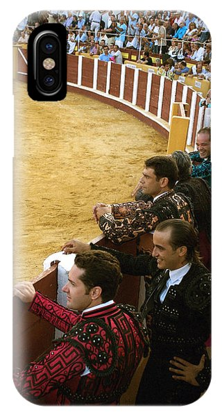Bull Ring Arena With Toreadors Phone Case by Perry Van Munster