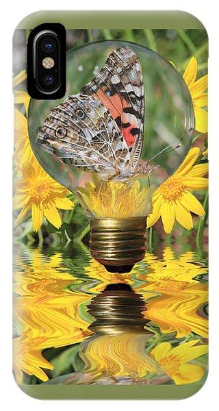Butterfly In A Bulb II - Landscape IPhone Case
