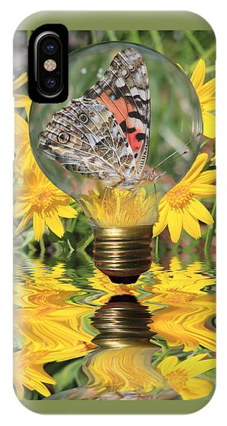 Butterfly In A Bulb II - Landscape IPhone Case