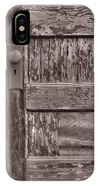 Door Knob IPhone Case   Cabin Door Bw By Steve Gadomski