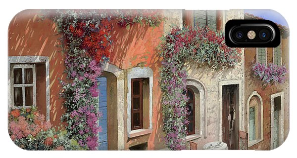 Italy iPhone Case - Caffe Sulla Discesa by Guido Borelli