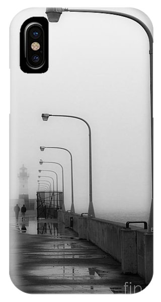 Canal Park Lighthouse In Fog IPhone Case