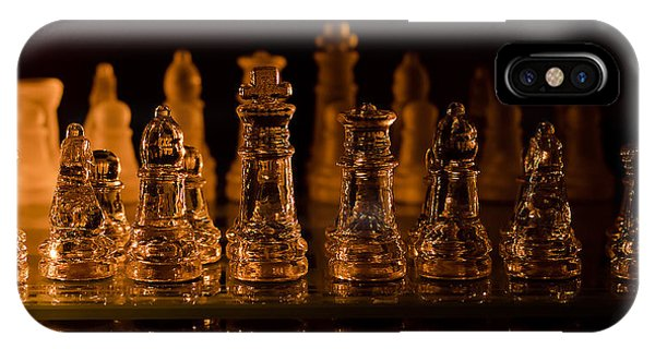 Candle Lit Chess Men IPhone Case