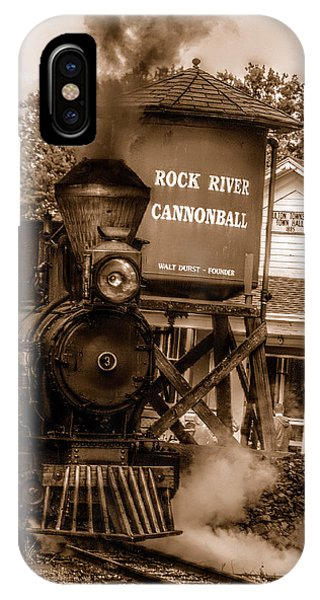 Cannonball Express In Sepia IPhone Case