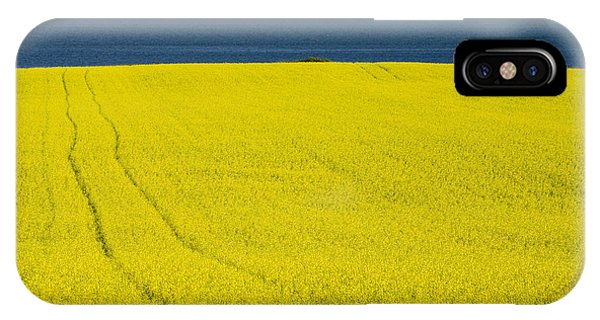 Yellow iPhone Case - Canola Field, Guernsey Cove, Prince by John Sylvester