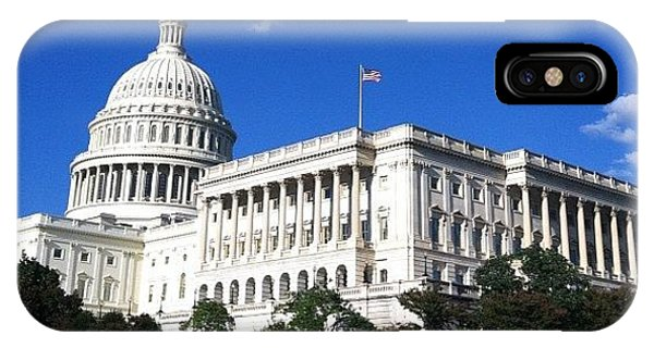 Political iPhone Case - #capitolhill #washingtondc #washington by Max Guzzo