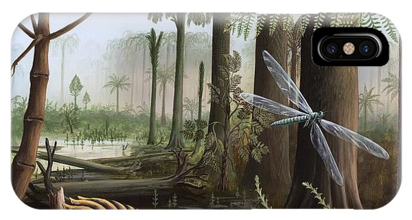 Carboniferous Insects, Artwork Phone Case by Richard Bizley