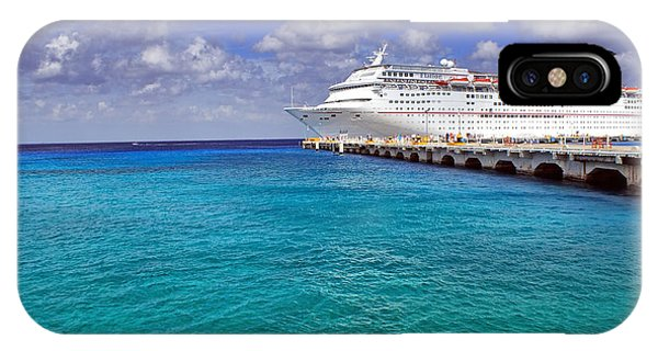 Carnival Elation Docked At Cozumel IPhone Case