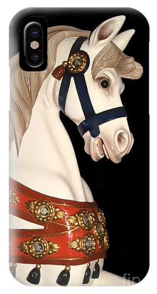 carnival ponies - Champagne Champion Prancing IPhone Case