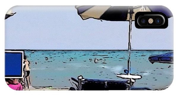 Cartoon iPhone Case - Cartoon Beach! #poetto#cagliari by Luca Ferretti
