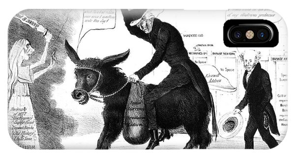 andrew jackson panic of 1837 political cartoon