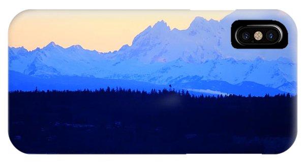 Washington Puget Sound Cascade Waterway IPhone Case