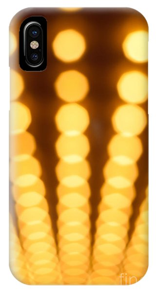 Movie iPhone Case - Casino Lights Out Of Focus by Paul Velgos