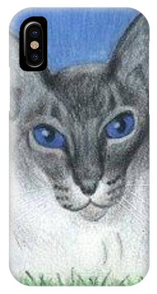 Cat In Grass - Aceo IPhone Case