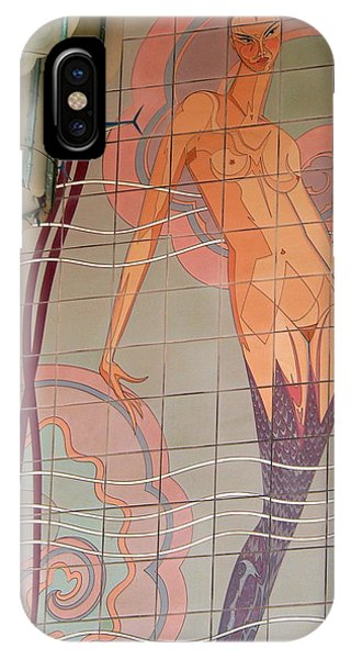 Catalina Tile Mermaid And Lamp IPhone Case