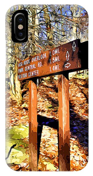 Catoctin Mountain Park iPhone Case - Catoctin Trail Sign by Stephen Younts